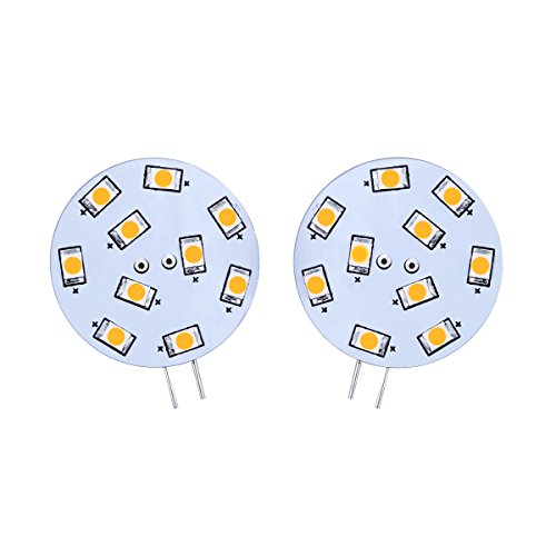 Le Pack Of 2, 1.5 Watt G4 Led Bulb, Equivalent To 20W Halogen Bulb, 12Vac, Bi-Pin Light Bulb, Warm White