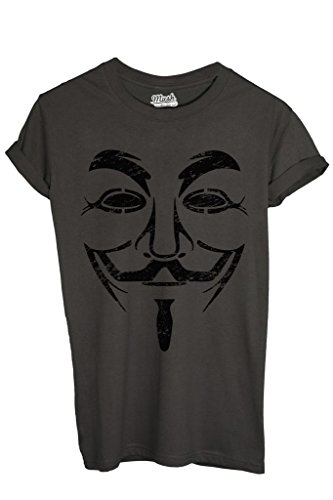 T-Shirt V FOR VENDETTA DESTROYED - FILM by MUSH Dress Your Style - Uomo-L-ANTRACITE