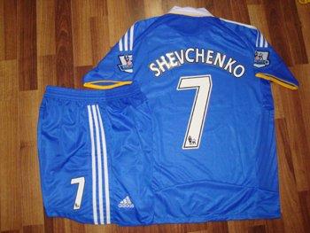 08-09 CHELSEA HOME JERSEY SCHEVCHENKO + FREE SHORT (SIZE XL)
