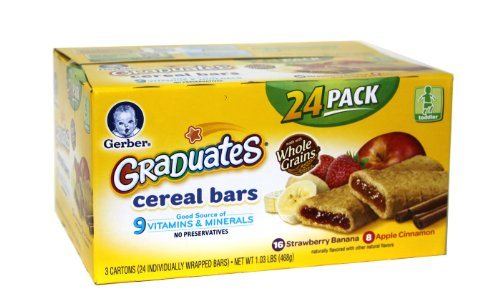 Gerber Graduates Whole Grain Cereal Bars 24 Pack front-250748