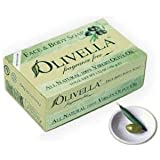 Olivella Face And Body Soap, Fragrance Free, All-natural 100 Percent Virgin Olive Oil From Italy, 3.52-oz Bars...