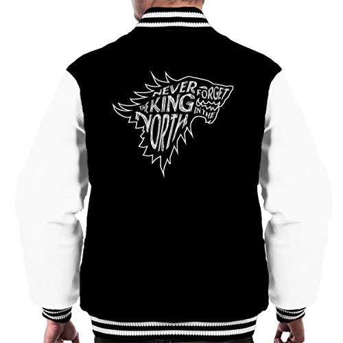 The North Never Forgets The King In The North Game Of Thrones Men's Varsity Jacket