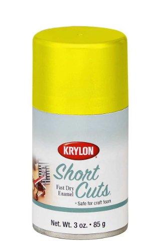 Krylon KSCS036 Short Cuts Aerosol Spray Paint, 3-Ounce, Sun Yellow