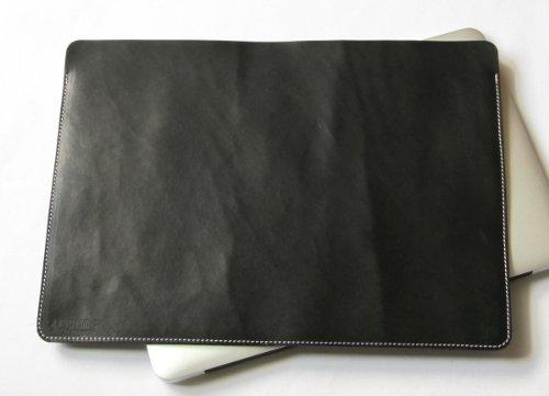 MacBook Air 11インチ オイルヌメ牛本革ケース 黒(糸:ピンク)