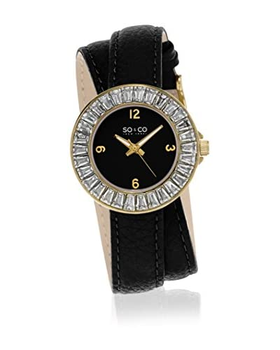 SO & CO New York Reloj de cuarzo Gp15550 Negro 34  mm