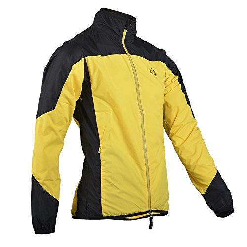 RockBros ツール·ド·フランス サイクル 長袖 ウインド ジャケット (黄, L)