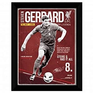 Steven Gerrard & Liverpool FC Framed Print from Liverpool FC