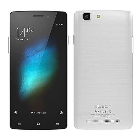 """CUBOT X12 4G LTE FDD-64bit MTK6735M Smartphone 5.0 """"IPS Android 5.1 Quad Core 1 Go de RAM de 8 Go ROM 5MP 8MP double caméras (Blanc)"""