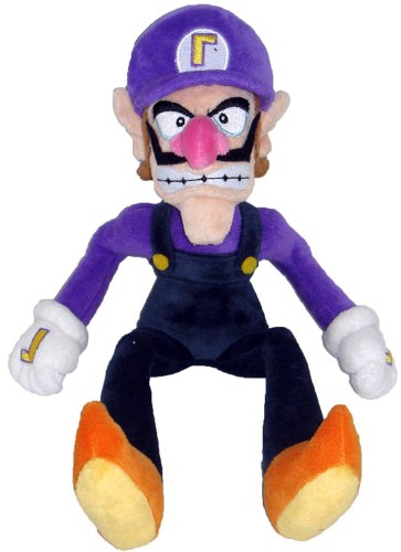 "Super Mario Plush - 11"" Waluigi Soft Stuffed Plush Toy Japanese Import"