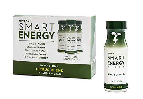 Smart Energy Shots by Niveau. Best Energy Drink for Optimum Health and Focus. Natural Energy Boost with Organic DMAE, Rhodiola, Biotin, and Green Tea Extract. Citrus Blend (4 - Pack) (Cheap Canned Goods compare prices)