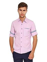 Wajbee Men's 100% Cotton Casual Shirt-XS
