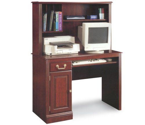 Classic Cherry Traditional Computer Desk with Hutch Roanoke Collection by