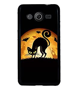 printtech Cool Cat Ghosts Back Case Cover for Samsung Galaxy Core Prime G360