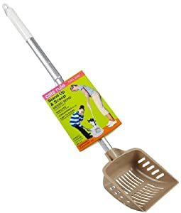 Cats Rule Stand Up 'N Scoop Retractable Scoop - Beige