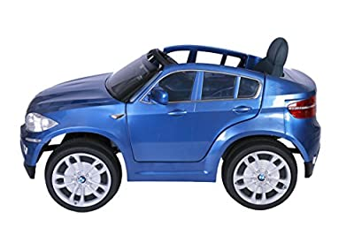 BMW X6 Blue Painted, Original Licenced Battery Powered Electric Ride-on Kids Car, 2x Engine, 12 V Battery, With Parental Remote Control, Rechargeable Battery