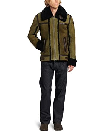 Diesel Men's Lencang Jacket, Light/Brown, Medium