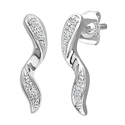 Ariel 0.03 Carat Diamond Drop Earrings in 9ct White Gold