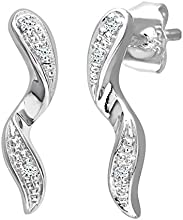 Naava 0.03 Carat Diamond Drop Earrings in 9ct White Gold