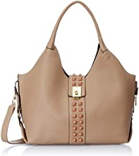 Femme Fatale Women's Shoulder Bag (Beige) (FFBASS1521)