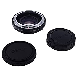 Neewer Lens Mount Adapter with Optical Glass for Canon FD Lens to Micro 4/3 Olympus PEN and Panasonic Lumix Cameras such as Olympus PEN E-P1 P2 P3 P5 E-PL1 PL1s PL2 PL3 PL5 PL6 E-PM1 PM2 OM-D E-M5 E-M1 Panasonic Lumix DMC-GH1 GH2 GH3 GX7 G1 G2 G10 G3 G5 G6 GF1 GF2 GF3 GF5 GF6 GX1 GM
