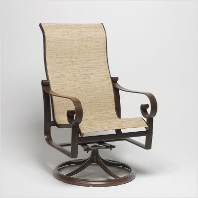 Belden Sling High Back Swivel Rocker Finish: Midnight, Sling: Cape Code Stripe
