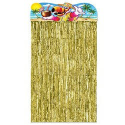 Luau Character Curtain Party Accessory (1 count) (1/Pkg)