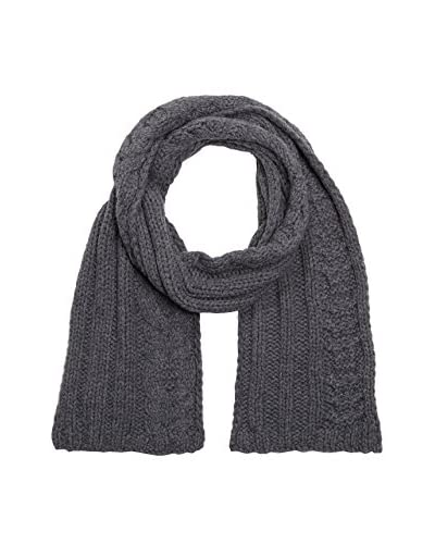 7 For All Mankind Sciarpa Scarf Cable Knit Wool  [Grigio]
