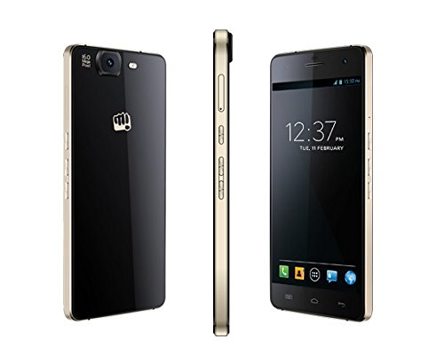 Micromax Canvas Knight A350 (Black-Gold)