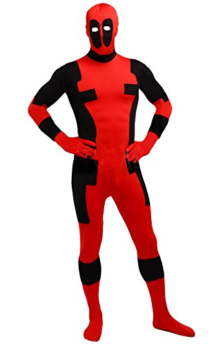 BlackSunnyDay Lycra Deadpool Super Hero Full Body Zentai Suit (Adult Large, Fashion)