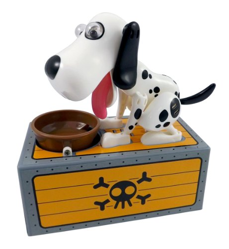 Cool Dalmatian Dog Piggy Bank - Robotic Coin Munching Toy Box For Kids front-12042