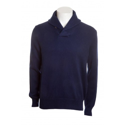 Polo Ralph Lauren mens long sleeve shawl collar jumper in chateau navy SML