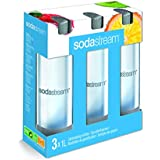 SodaStream 3 x 1L PET-Flasche, grau