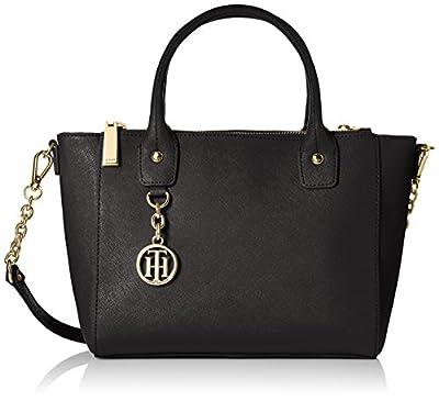 Tommy Hilfiger Sharon Text Leather Shoulder Bag