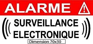 """Autocollant de dissuasion """"surveillance électronique"""" lot de 10 pièces Réf AS23"""