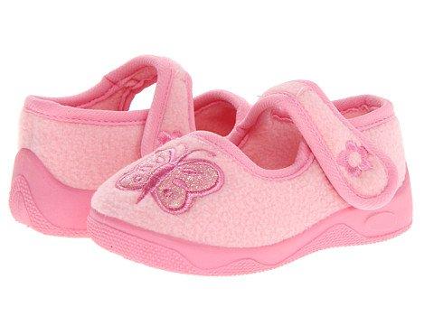 Ragg Girls Nicki Slippers, Pink, 6 M Us Toddler front-311531