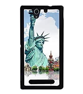 printtech Wonders of World Back Case Cover for Sony Xperia C3 Dual D2502 , Sony Xperia C3 D2533