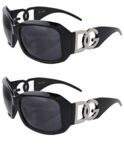 2 PAIR Black DG Eyewear Designer Womens Fashion Sunglasses Picture