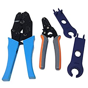 Signstek MC4 MC3 Solar Crimping Tools Connector Crimp Tool Set for Solar Panel Cable from Signstek