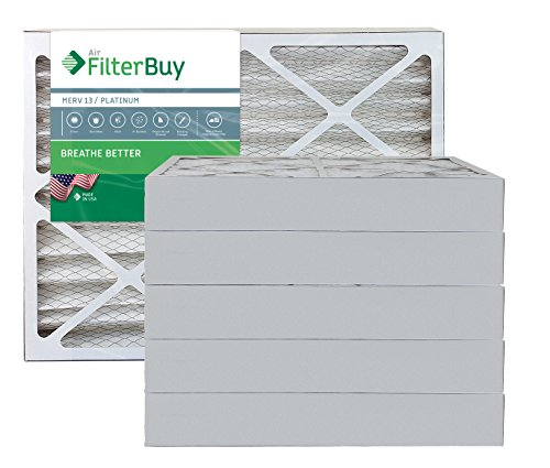 AFB Platinum MERV 13 24x36x4 Pleated AC Furnace Air Filter. Pack of 6 Filters. 100% produced in the USA.