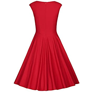 MUXXN Women's 1950s Retro Vintage Cap Sleeve Party Swing Dress