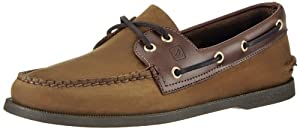 Sperry Top-Sider Men's A/O 2 Eye Boat Shoe,Brown/Buck Brown,9.5 M US