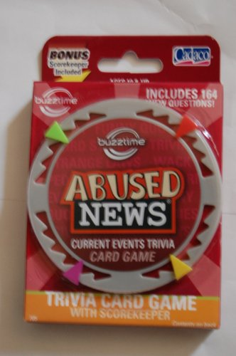 Cadaco Buzztime Abused News Trivia Card Game Series 1