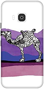 The Racoon Grip printed designer hard back mobile phone case cover for HTC One M9. (Camel Stor)