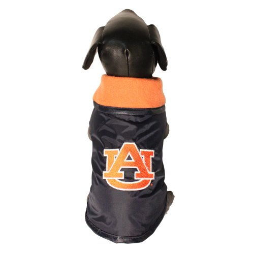 NCAA Auburn Tigers All Weather Resistant Protective Dog Outerwear, Small