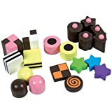 Santoys ST697 Wooden Play Food Liquorice Allsorts