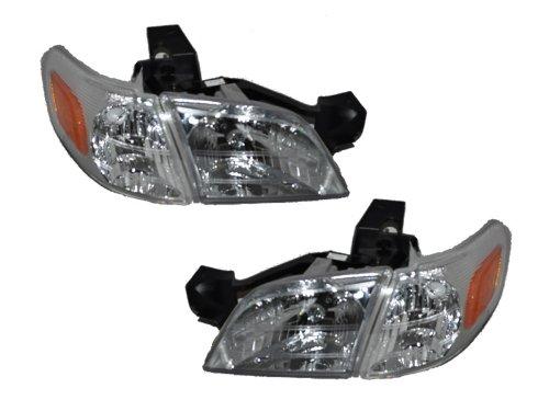 Chevy Venture 4Piece Headlights Headlamp Set With Corner Lights Driver/Passen... (Headlights 99 Chevy compare prices)