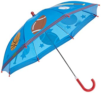 Stephen Joseph Little Boys' Sports Rain Umbrella, Royal Blue, One Size