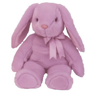 TY Beanie Buddy - FLOPPITY the Purple Bunny