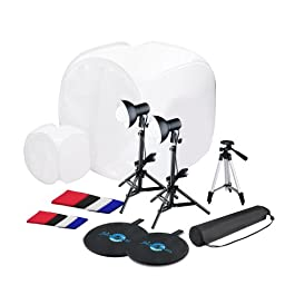 Shutter Starz 1051 SS6700 Tabletop Complete Photo Studio Kit with 2 Light Tents and 8 Backgrounds