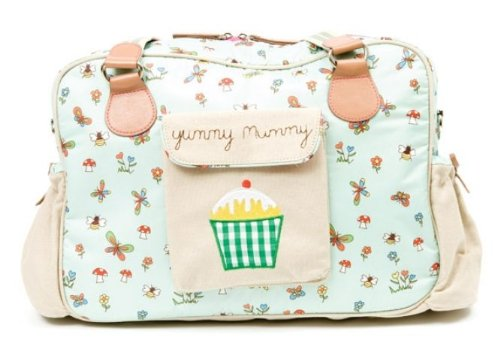Pink Lining Yummy Mummy Changing Bag At The Bottom Of The Garden
